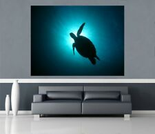 Self Adhesive Giant Maxi Poster Sea Turtle underwater PP204