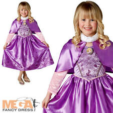 Winter Rapunzel Girls Fancy Dress Disney Tangled Fairy Tale Childrens Costume