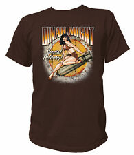 T-Shirt Rockabilly Dinah Might Special Delivery Pin-up Vintage V8 Ratty Rod
