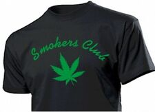CAMISETA DIVERTIDA Smokers Club con hoja Cannabis Marihuana Planta Talla 3-5xl
