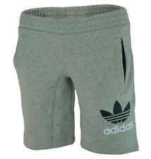 Adidas YB Fleece Short Junior Jungen Kinder Shorts Kurze Hose Grau
