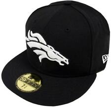 New Era Denver Broncos Black White 59fifty Fitted Cap Basecap Limited Edition