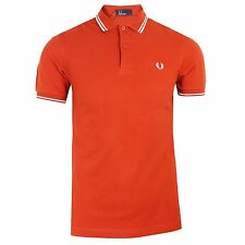 fred perry Polo Hombre Rojo Doble Franja TOP