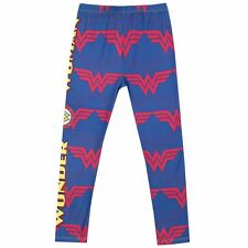 Girls Wonder Woman Leggings | Kids Wonder Woman Bottoms | DC Comics Leggings