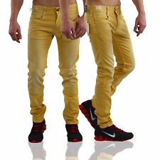 JACK & JONES Uomo Slim jeans pantaloni Glenn Fox Giallo bl413