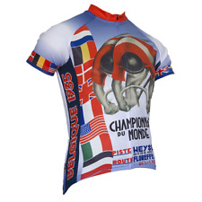 1935 WORLD CHAMPIONSHIPS SHORT SLEEVE CYCLING JERSEY - by Retro Image Apparel