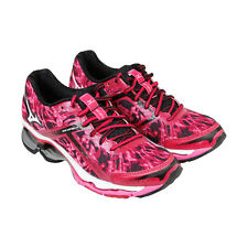Mizuno Wave Creation 15 Womens Pink Synthetic Athletic Lace Up Running Shoes