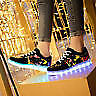 LED Light Lace Up Luminous Shoes Sneaker Casual Shoes 7-color Changing USB