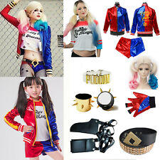 Suicide Squad Harley Quinn FILLES FEMMES déguisement cosplay halloween LOT