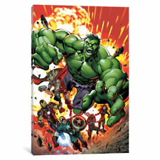 iCanvas Marvel Avengers: Black Widow, Captain America, Hawkeye, Hulk, Iron Man