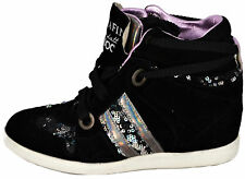 Scarpe Donna Nero Zeppa Serafini Sneakers Woman Black