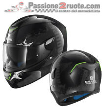 Helmet moto Shark Skwal Trooper black casco integral helm capacete