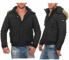 Tommy Hilfiger Denim Tech Bomber Jacke Winterjacke Jacket Schwarz
