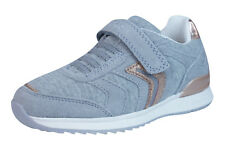 Geox J Maisie G Girls Trainers Slip On Casual Kids Shoes w Strap - Grey - C1006