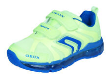 Boys Geox Trainers J Android B Kids No Laces Sports Shoes - Yellow - RRP £54.95