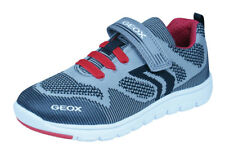 Geox J Xunday B J Boys Trainers / Casual Shoes - Grey and Red