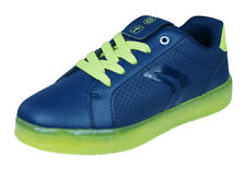 Geox J Kommodor B.B Boys Trainers / Casual Shoes - Navy and Lime