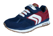 Geox J Pavel B Boys Trainers / Casual Shoes - Navy Blue and Red