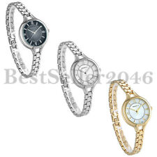 Stainless Steel Casual Business Dress Analog Small Bracelet Watch for Ladies