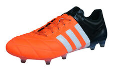 adidas Ace 15.1 FG / AG Pro Leather Uomo Scarpe Calcio - Orange e nero