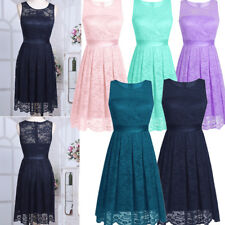 Women's Lace Short Formal Wedding Evening Ball Gown Party Prom Bridesmaid Dress