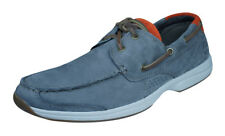 Mens Timberland Leather Boat Shoes Earthkeepers Hull Cove 2 Eye - Gray