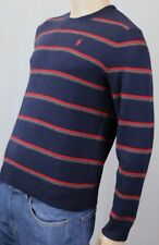Polo Ralph Lauren Navy Blue Crewneck Wool Sweater Red Pony NWT
