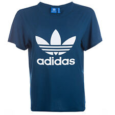 Womens adidas Originals Boyfriend Trefoil T-Shirt In Tech Steel