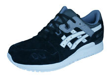 Asics Gel Lyte III Mens Leather Running Trainers / 90s Retro Shoes - Black