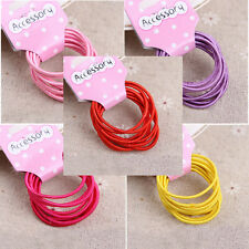 20Pcs Kids Girls Elastic Hair Rope Ponytail band ties hair accessories DSUK