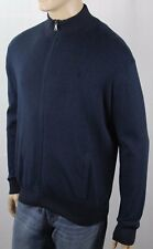 Polo Ralph Lauren Blue Pima Cotton Full Zip Sweater Jacket Blue Pony NWT $165