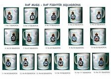 RAF MUGS.RAF VINTAGE BADGE MUGS.FIGHTER SQUADRONS.NEW.BNIB