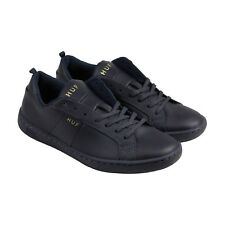 HUF Boyd Mens Blue Leather Lace Up Sneakers Shoes