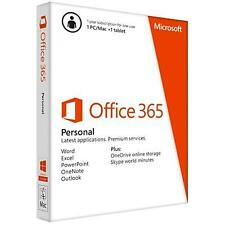 NEW! Microsoft Office 365 Personal 1 Year Subscription 1 User