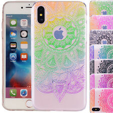 Anti-Urto GEL TPU MANDALA modello stampato Brossura Custodia per Apple iPhone x