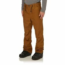 DC Snow Pants - DC Relay Snow Pants - Waxed Leather Brown