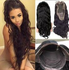 Sexy Human Hair Wigs to Women Long Straight Lace Front / Full Wig With Baby Hair