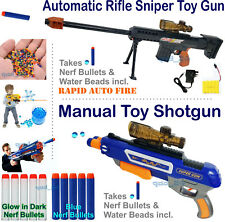 Electric Auto Sniper Toy Shot Gun Water Crystal Bullet Gel Soft Nerf Rapid Fire
