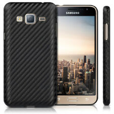 kwmobile CUSTODIA PER SAMSUNG GALAXY J3 (2016) DUOS BACK COVER CASE CARBON LOOK