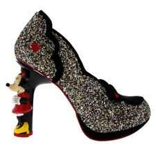 Ladies Irregular Choice Minnie Mouse Limited Edition Glitter High Heel All Sizes