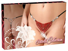 String Tanga Sexy Cottelli Collection Lingerie Heart String Strass