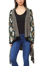 Aniston Giacca Donna Maglione Lungo Cardigan verde a maglie grosse AUTUNNO