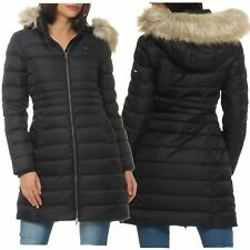 Tommy Hilfiger Denim Damen Winter Mantel Jacke Daunenmantel Coat Black