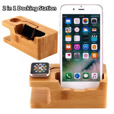 Bois De Bambou Dock Station Charge Support Stand-Holder Pour Apple Watch iPhone