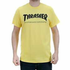 Thrasher Magazine Skate Mag T-Shirt Yellow Tee New In Free Delivery Quick Strike