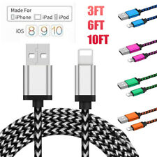 1/2/3M Data Sync 2.1A Fast Charger USB Cable Cord For iPhone 7 8 Plus 6 6S 5 SE