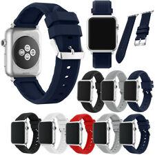 Soft Silicone Replacement Wristband Straps Band Sport For Apple iWatch 38/42MM