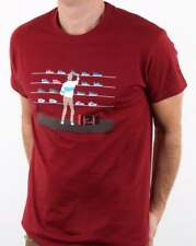 80s Casuals Tales Of Train Journeys T Shirt in Red