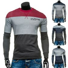 BOLF homme sweat pull chemise longue pull impression col rond slim 1 A 1 motif