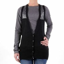 REPLAY donna Gilet a maglia ANTRACITE dk2613